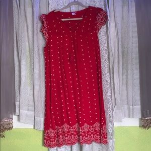 Old Navy. Country/Hobo Red Dress.